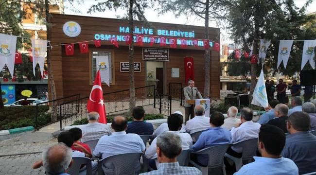 Osmangazi Mahalle Muhtarlığı Hizmete Açıldı