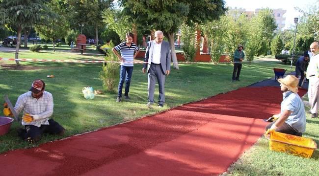 Selçuk Polat Parkına Yürüyüş Yolu Yapılıyor