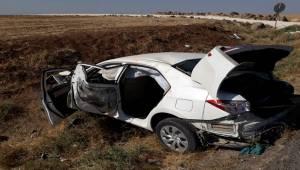 Suruç'ta Otomobil Devrildi 5 Yaralı