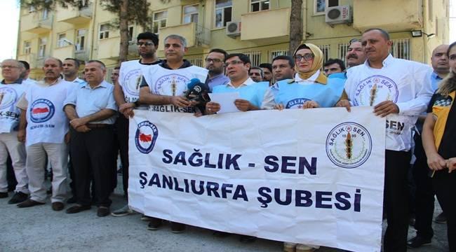 Urfa'da Sağlık Çalışanlarına Şiddete Tepki