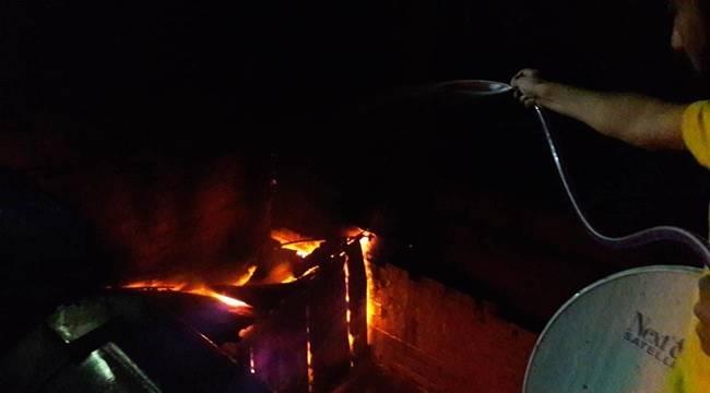 Vatandaşlar Yangını Söndürmek İçin Seferber Oldu