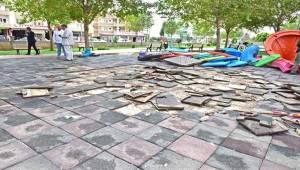 Ceylanpınar'da Parklar Onarılıyor