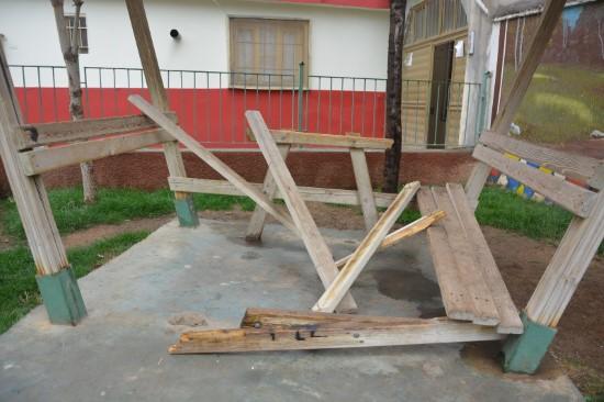Ceylanpınar'da parklar tahrip edildi