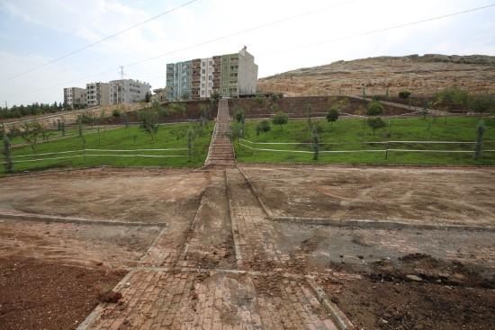 Eyyübiye'de park yapım çalışmaları sürüyor