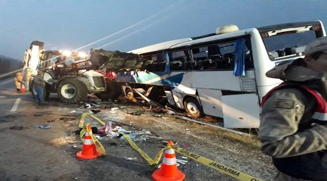 Samsun-Şanlıurfa Seferi Yapan Otobüs Kaza Yaptı 7 Ölü