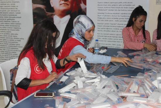 Sınav kalemleri köylerde okuyan öğrencilere dağıtılacak