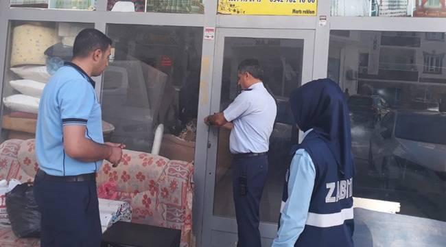 Viranşehir'de Ruhsatsız İş Yerleri Mühürlendi