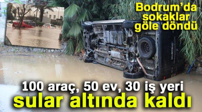 100 araç, 50 ev, 30 iş yeri sular altında kaldı
