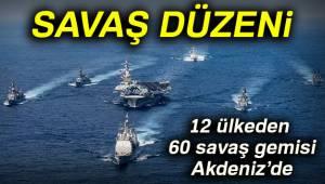 12 Ülkeden 60 Savaş Gemisi Akdeniz'de