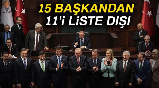 AK Parti'de 15 Başkandan 11'i Liste Dışı