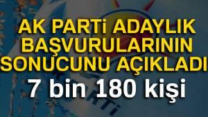 AK Parti'ye belediye başkanlığı için 7 bin 180 başvuru