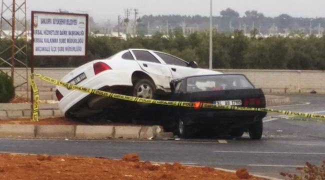 Akçakale'de Kayganlaşan Yolda Kaza 6 Yaralı