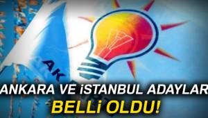 AK Parti'nin Ankara ve İstanbul Adayları Belli Oldu
