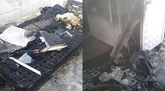 Bozova'da Yanan Ev Küle Döndü