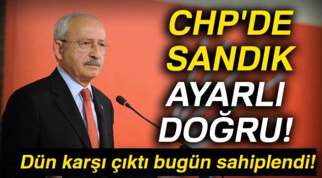 CHP'de Sandık Ayarlı Doğru