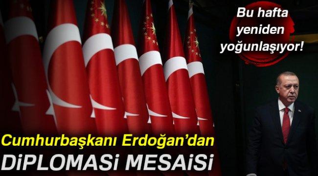 Cumhurbaşkanı Erdoğan'dan diplomasi mesaisi