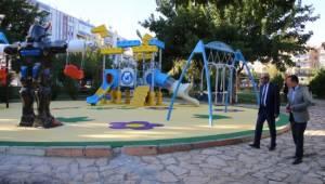 Demirkol, park ve bahçe çalışmalarını inceledi