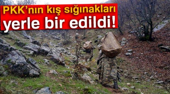 Diyarbakır'da PKK'nın Kış Sığınakları İmha Edildi