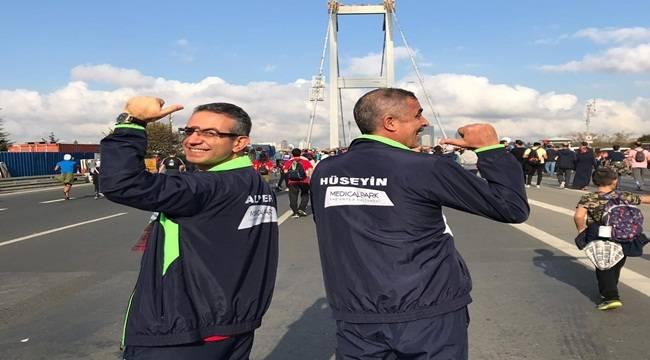 Doktor ve Akciğer Hastası Maratonda Ter Döktü