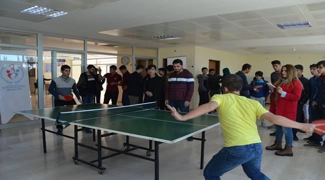 Siverek'te Liselerarası Masa Tenisi Turnuvası