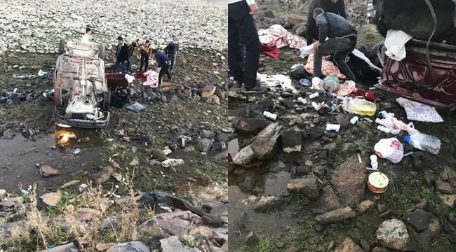 Siverek'te Otomobil Şarampole Uçtu 4 Yaralı