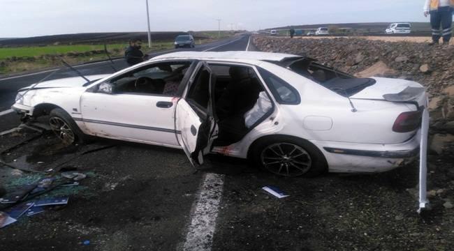 Siverek'te Otomobil Takla Attı 5 Yaralı