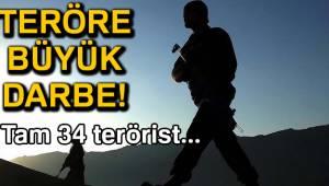 Son bir hafta içinde 34 terörist etkisiz hale getirildi