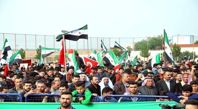Suriyelilerden PKK ve YPG Protestosu