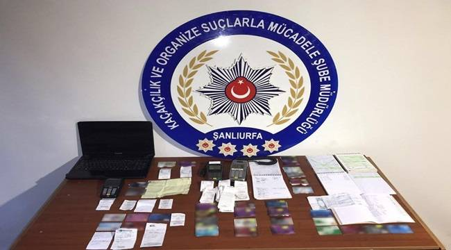 Urfa'da Kuyumcu Görünümlü Tefecilere Operasyon