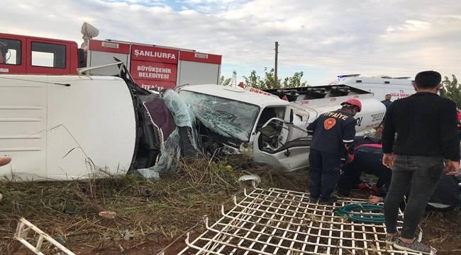 Urfa'daki Kazada Büyük Faciadan Dönüldü
