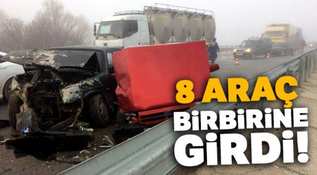 17 araç birbirine girdi 19 yaralı
