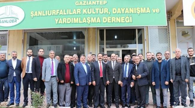 Başkan Çiftçi Antep'te Şanlıder'i ziyaret etti
