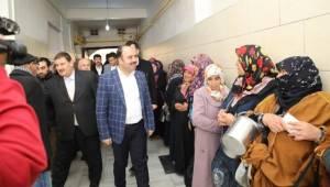 Başkan Çiftçi ŞASEMKOM ve Aşevini Ziyaret Etti