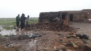 Ceylanpınar'da Kerpiç Evler Yıkıldı