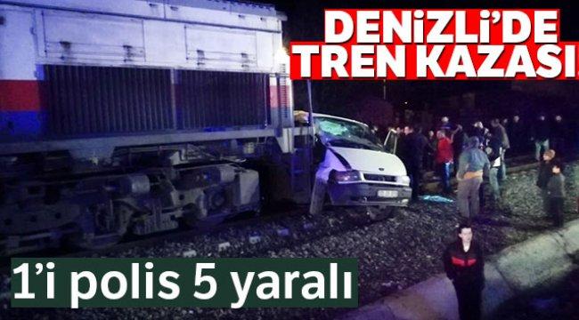 Denizli'de tren kazası 1'i polis 5 yaralı