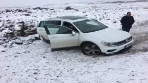 Karlı Şanlıurfa Yolunda Kaza Yaralılar Var