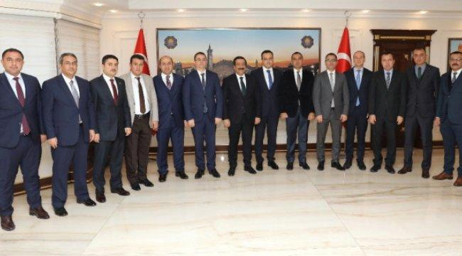 Kaymakamlardan Başkan Atilla'ya Ziyaret