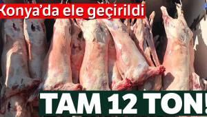 Konya'da jandarma 12 ton kaçak et ele geçirdi