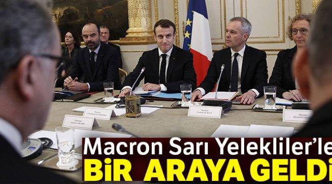 Macron Sarı Yelekliler'le Bir Araya Geldi