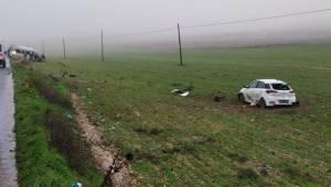 Otomobil Minibüs ile Çarptı 4 Yaralı