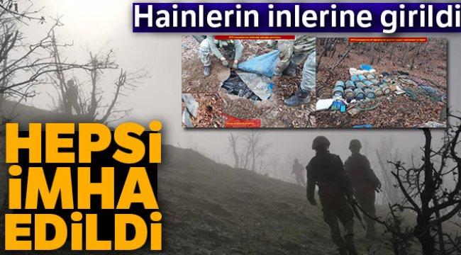 PKK'nın Kış Sığınakları İmha Edildi