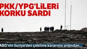 PKK/YPG'liler Korku Sardı