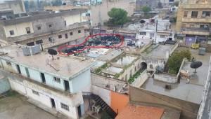 PYD Rasulayn'da Evlerin Üzerine Lastik İstifledi