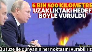 Rusya'nın en prestijli füze sistemi test edildi