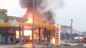 Şanlıurfa'da Akaryakıt İstasyonunda Patlama