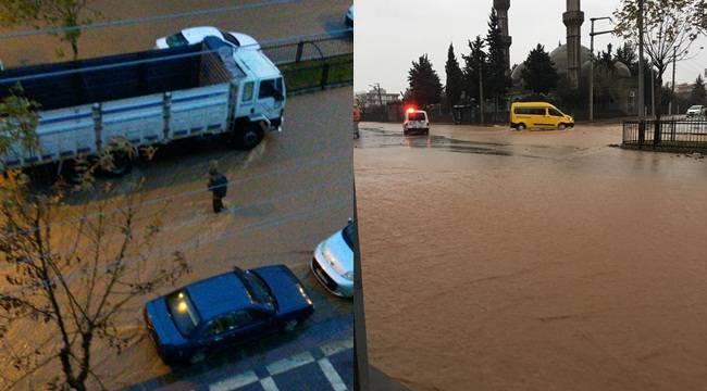 Sel Siverek'te Zor Anlar Yaşattı