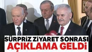 TBMM Başkanı Yıldırım, MHP lideri Bahçeli ile görüştü