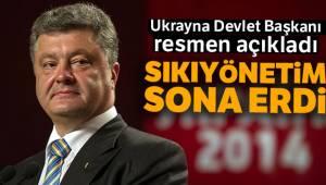 Ukranya'da Sıkı Yönetim Sona Erdi