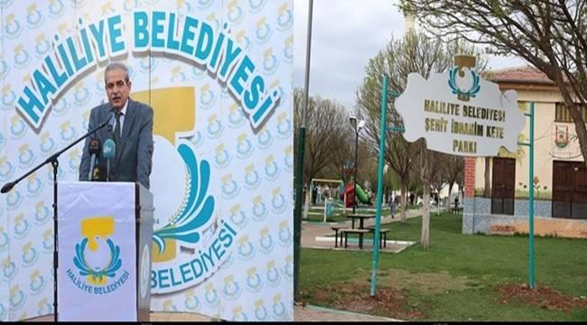Urfalı Şehitlerin İsimleri Haliliye'de Yaşatılıyor