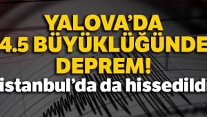 Yalova'da 4.5 büyüklüğünde deprem